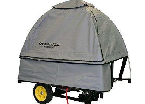 GenTent 10k Generator Tent Running Cover - Universal Kit (Standard, GreySkies) - Compatible with 3000w-10000w Portable Generators by GenTent Safety Canopies