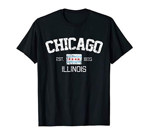 Vintage Chicago Illinois Est. 1833 Gift T-Shirt ()