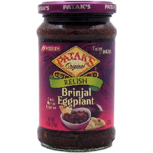 Patak's Brinjal (Egg Plant) Relish 11-ounce Jars (Pack of 12)