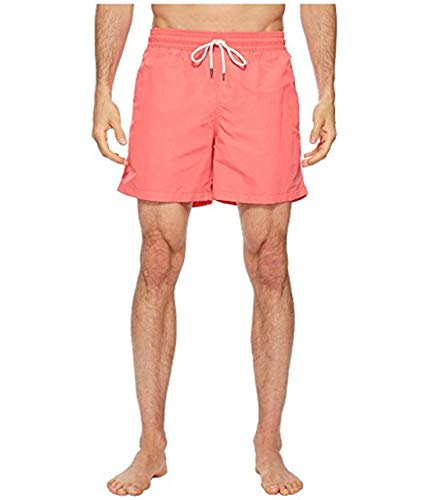 Polo Ralph Lauren Nylon Traveler Swim Shorts Men's Swimwear (Peacful Coral, L)
