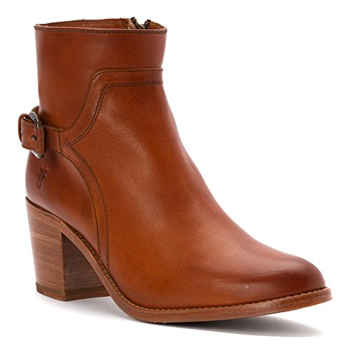 Jeanis Shield Frye Womens Boot Cognac In Pelle Liscia Vintage