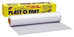 Warp Brothers PM-50 Clear Plast-O-Mat Ribbed Flooring Runner Roll, 30-Inch by 50-Foot