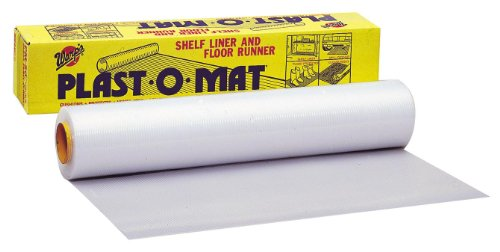 - Warp Brothers PM-50 Clear Plast-O-Mat Ribbed Flooring Runner Roll, 30-Inch by 50-Foot