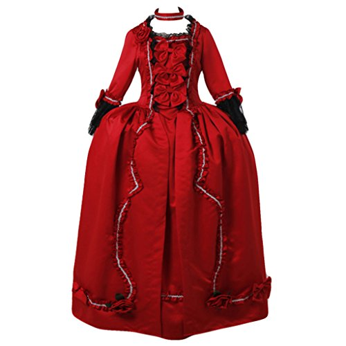 CosplayDiy Women's Marie Antoinette Baroque Gothic Victorian Red Dress (Cheap Marie Antoinette Costume)