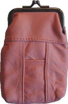 Pink Leather Cigarette Lighter Holder