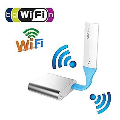 BayValleyParts Universal Wifi Repeater 300Mbps Range Extender Wireless Network Amplifier Mini AP Router Signal Booster Wireless-N 2.4GHz IEEE802.11N/G/B/A