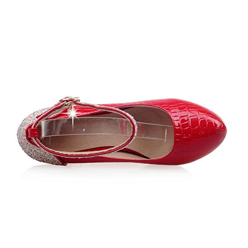 Red Slip Resistant AdeeSu Shoes Womens Assorted Pumps Sequin Urethane SDC03827 nbsp;Color Platform wxYPXSYq
