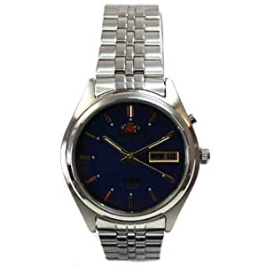 Orient BEM5Y001D6 3 Star - Reloj automático con día y fecha, color azul y dorado