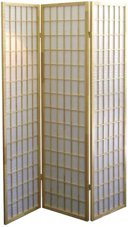 ORE International 3-Panel Room Divider, Natural
