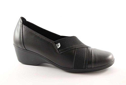 negras SUAVE 517 tipo comodidad de piel la zapatos mujeres CINZIA Nero zeppetta de zapatilla t5d0Pqtx