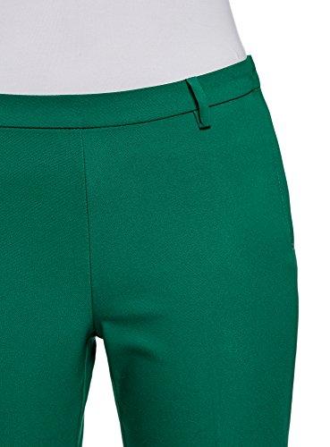Pantaloni oodji 6e00n Collection Verde Laterale Donna Zip Stretti con EqzrvxqP