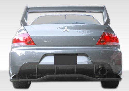 Duraflex Replacement for 2003-2006 Mitsubishi Lancer Evolution 8 9 VT-X Wide Body Rear Lip Under Spoiler Air Dam with Diffuser - 1 Piece