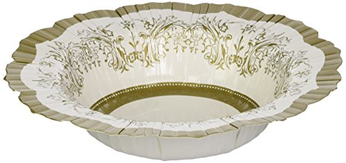 Talking Tables Gold Party Decorations | Gold Plates And Bowls Party Supplies | Gold Bowls | Great For Wedding, Bridal Shower, Christmas And Birthday Decorations | Paper, 12 Pack