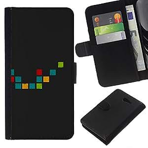 YiPhone /// Tirón de la caja Cartera de cuero con ranuras para tarjetas - Anolog pixals - Sony Xperia M2