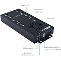 Sipolar Desktop Charging Station with 10 Data Syncs and Charger Port Speed up to 2.1A