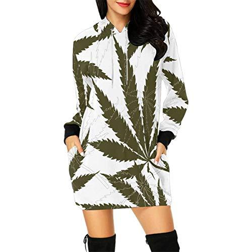 INTERESTPRINT Hemp Marijuana Weed Women's Long Sleeve Hoodie
