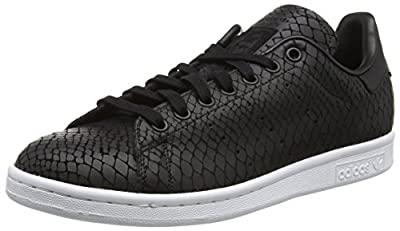 Adidas Women's Stan Smith W, SNAKESKIN-BLACK/WHITE, 5.5 US