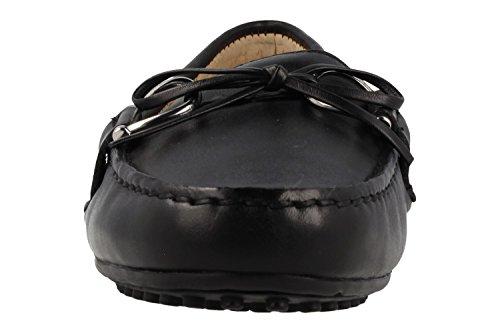 Lauren Door Ralph Lauren Briley Zwarte Leren Rijden Loafer Zwart Leer