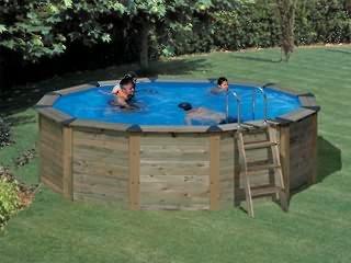 Set Pool Aufstellbecken Natur Pool Holz Rund 2 80 X 1 20 M Gre Pools