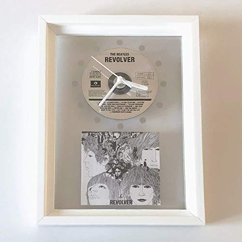 THE BEATLES - Revolver: FRAMED CD ART CLOCK/Exclusive Design (Revolver Design)
