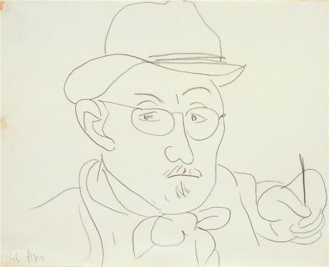 The Perfect Effect Canvas Of Oil Painting 'Self Portrait 1945 By Henri Matisse' ,size: 20x26 Inch / 51x66 Cm ,this Replica Art DecorativePrints On Canvas Is Fit For Bathroom Gallery Art And Home Decoration And Gifts (Outdoor Pedestal Clock Thermometer)