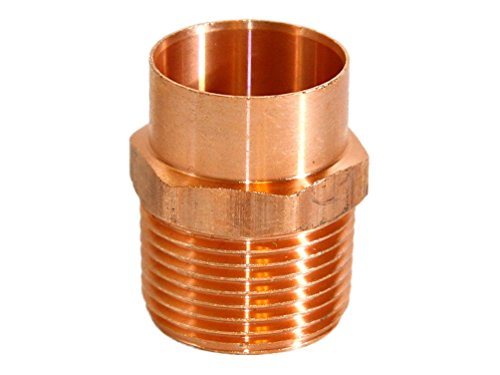 5 pcs of 1'' Copper x Male Adapter by Fitting Stores