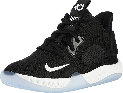 Nike Kids' Grade School KD Trey 5 VII Basketball Shoes (7, Black/White)