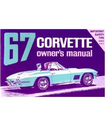 (1967 Chevrolet Corvette Owners Manual User Guide Reference Operator Book Fuses)