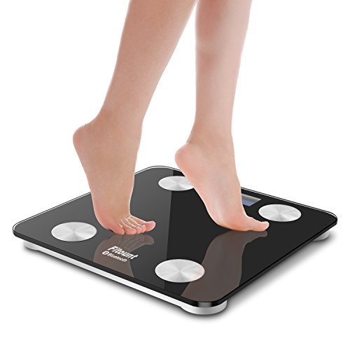 Bluetooth Body Fat Scale,Fitount Smart Wireless Digital Bathroom Weight Gurus Scale Body Composition Analyzer with App for Body weight Body Fat Water Muscle Mass BMI BMR Bone Mass Visceral Fat by Fitount (Image #5)