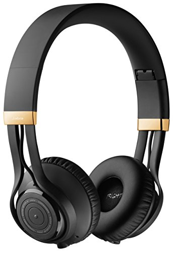 Jabra Revo Wireless Bluetooth On-Ear Headphones with Mic - Black/Gold