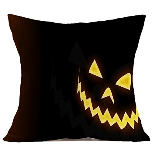 [Gotd Halloween Pillows Cover Decorations Decor Halloween Throw Pillow Case Sofa Waist Throw Cushion Cover Home Decor Square 45 x 45cm 18 x 18inch] (Halloween Costumes 03)