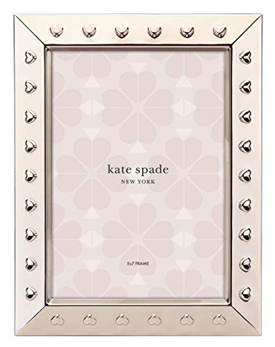 Kate Spade New York Heart to Heart 5x7 Picture Frame, Gold-Plated ()