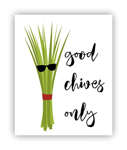 Good Chives Only, Food Pun, Funny Poster, Poster
