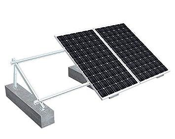 Estructura panel solar Soporte de placas solares Aluminios para todos tipos de paneles solares Tipo Suelo plano VALE PARA 4 PANEL: Amazon.es: Bricolaje y ...