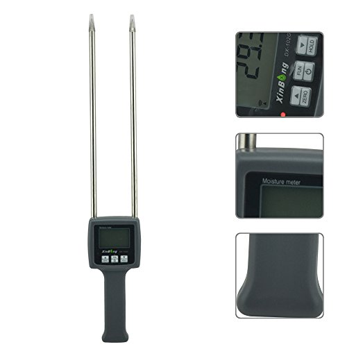 Professional Grain Flour Moisture Meter Tester Maize Paddy Coffee Flour DX-102G Handheld Portable Hygrometer Humidity Hygrometers
