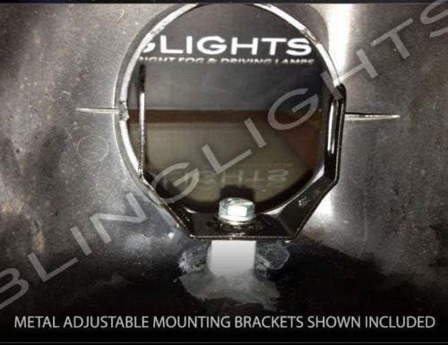 Amazon.com: Faros de conducción LED blanco para Honda ...