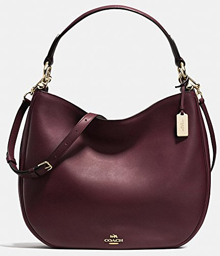 COACH Women's Natural Calf Nomad Hobo LI/Oxblood Hobo (Hobo Handbags Coach)