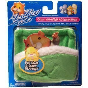 (Zhu Zhu Pets Hamster Blanket and Bed - Green)