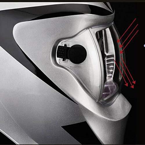 Máscara de soldadura de atenuación automática Cabeza de soldador totalmente equipada Casquillo de soldadura de arco de argón Lentes de soldadura ...
