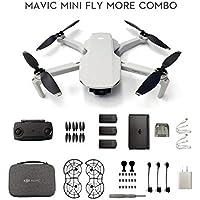 DJI Mavic Mini Fly More Combo Drone FlyCam Quadcopter with 2.7K Camera 3-Axis Gimbal GPS 30min Flight Time 12 mp Camera