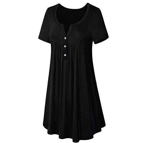 T shirt kleid schwarz v ausschnitt damen