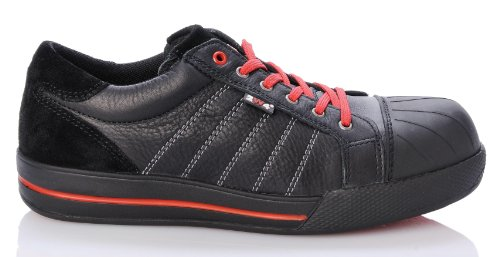 2W4 CHUCK Halbschuh EN345 S3 schwarz/rot Sicherheitsschuhe Sneaker