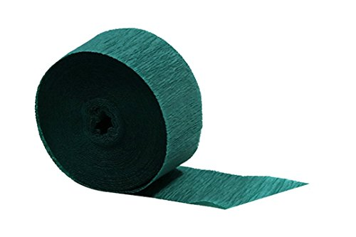 Teal Peacock Crepe Paper Streamer 2 Rolls, 145 feet Total, Made in ()