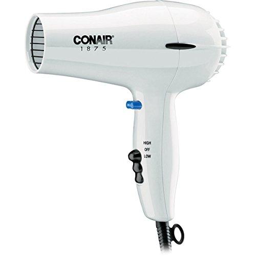Conair 247W White Compact Hair Dryer - 1875W - Media Storage Pier