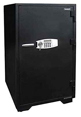 Honeywell 2120 Steel Fireproof/Waterproof Security Safe with Dual Digital Lock and Key Protection, 5.9-Cubic Feet, Black