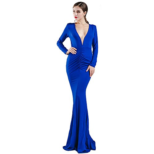 Missord Sleeve Halter Backless Dress