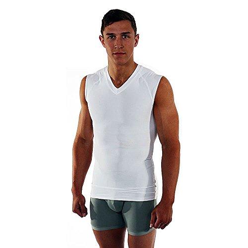 Go Athletic's Max Fit Gynecomastia/Man Boob Compression Shirt - Black - XXL by Go Athletic Apparel