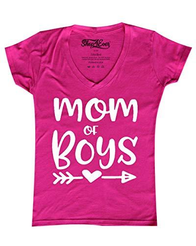 Boy Womens V-Neck T-Shirt - Shop4Ever Mom of Boys Women's V-Neck