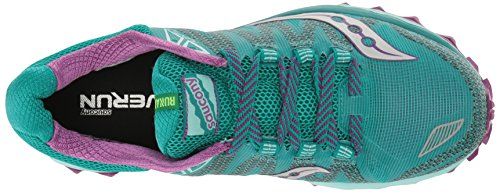 Trail Teal Purple 7 Citron Shoe Running Women's Peregrine Saucony qtnwgaY