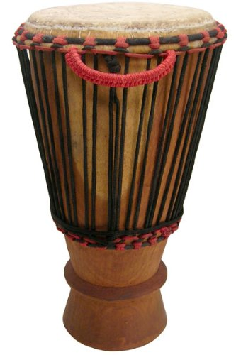 Hand-carved Bugarubu Drum From Africa - 13'' X 25'' - Ivory Coast Paragon Bougarubou - New! by Africa Heartwood Project